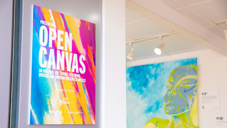 """The """"Open Canvas"""" exhibit at this year's US Open"""