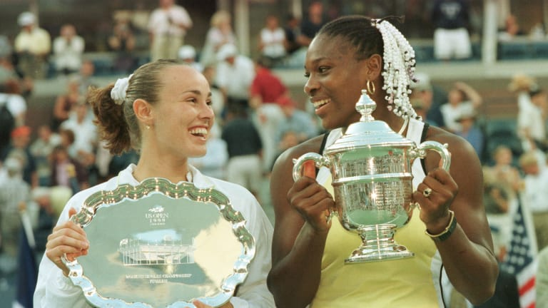 Serena Williams' triumph over Martina Hingis was the last all-teen US Open final until 2021.
