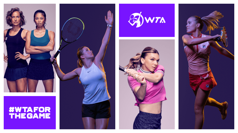 """WTA rebrands with  new logo and """"For   The Game"""" campaign"""