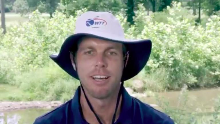 Querrey rocks  bucket hat in  West Virginia