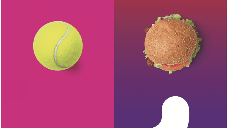 Eat for the task ahead of you. If you have a best- of-three-set match coming up, eat more carbs for energy; if you have a half-hour hit, eat less. We need to be lean and ready to pounce as tennis players—never too heavy.