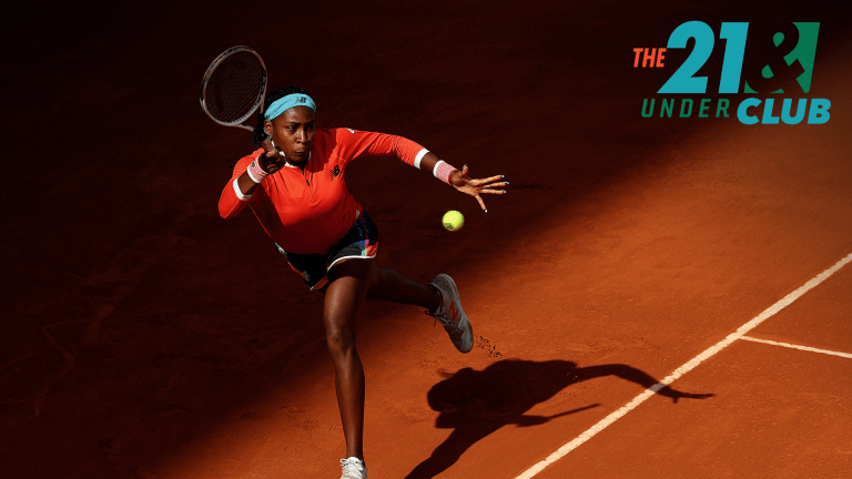 Gauff reached her first Grand Slam quarterfinal at the 2021 French Open.